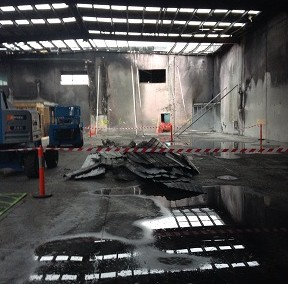 Demolition Work to Fire Affected Property